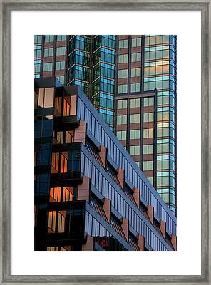 Complex Glass Framed Print by Elisabeth Van Eyken