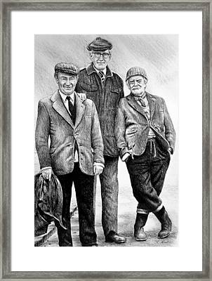 Compo Clegg And Foggy 2 Framed Print by Andrew Read