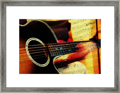 Composing Hallelujah. Music From The Heart  Framed Print by Jenny Rainbow