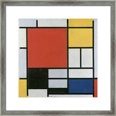 Composition In Red, Yellow, Blue And Black Framed Print by Piet Mondrian