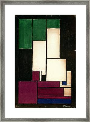 Composition Framed Print by Theo van Doesburg