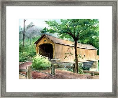 Comstock Bridge Framed Print by Katherine  Berlin