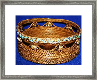 Comstock Pine Needle Basket Framed Print by Russell  Barton