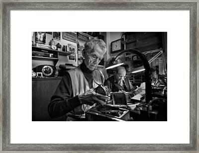 Concentration. Framed Print by Antonio Grambone