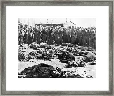 Concentration Camp, 1945 Framed Print by Granger