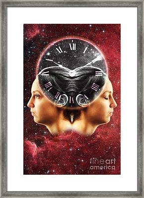 Conceptual Illustration Of Circadian Framed Print by George Mattei