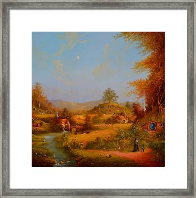 Concerning Hobbits Framed Print by Joe Gilronan
