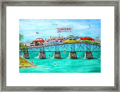 Conch Day Framed Print by Linda Cabrera