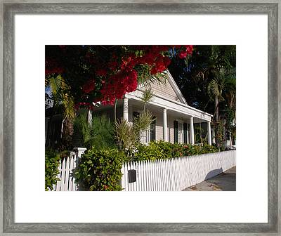 Conch House In Key West Framed Print by Susanne Van Hulst