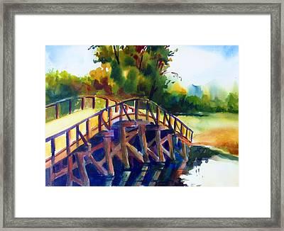 Concord Bridge Framed Print by Linda Emerson