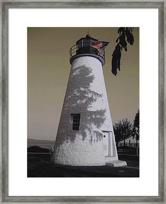 Concord Point Light Framed Print by Gordon Beck