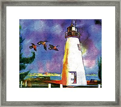 Concord Point Lighthouse Framed Print by Dean Gleisberg