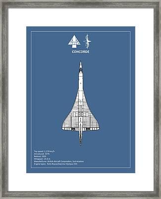 Concorde Framed Print by Mark Rogan