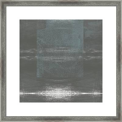 Concrete 2- Contemporary Abstract Art By Linda Woods Framed Print by Linda Woods