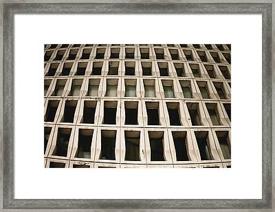 Concrete Building Pattern Framed Print by Tom Gowanlock