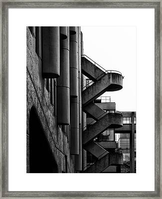 Concrete Stairways Framed Print by Philip Openshaw