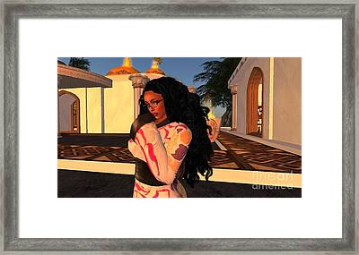 Concubine Reflections Framed Print by Leslie Moore