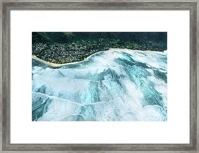 Condition Black - Sunset Beach 2015 Framed Print by Sean Davey
