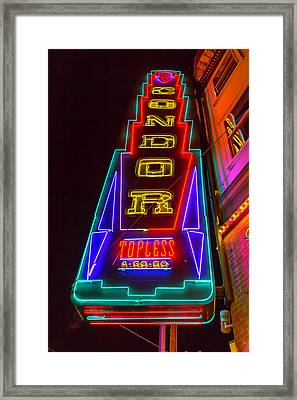 Condor Neon Framed Print by Garry Gay