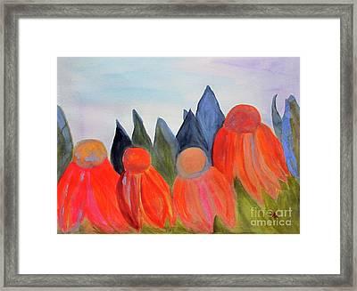 Coneflowers Framed Print by Sandy McIntire