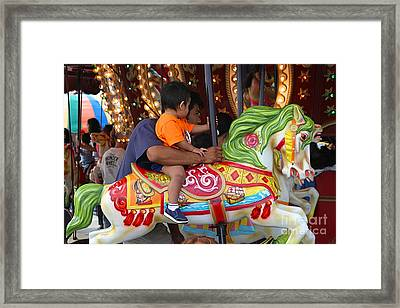 Coney Island Carousel Framed Print by Madeline Ellis