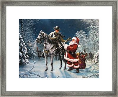 Confederate Christmas Framed Print by Dan  Nance