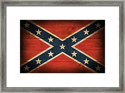Confederate Flag Framed Print by Taylan Soyturk