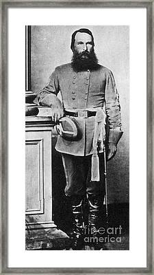 Confederate General James Old War Horse Framed Print by Photo Researchers