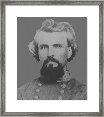 Confederate General Nathan Forrest Framed Print by War Is Hell Store