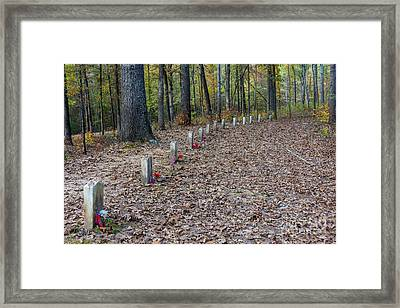 13 Unknown Confederate Soldiers - Natchez Trace Framed Print by Debra Martz