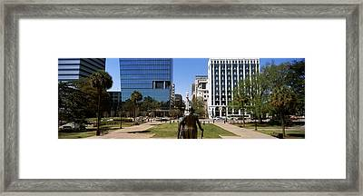 Confederate Monument Viewed From South Framed Print by Panoramic Images
