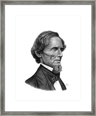 Confederate President Jefferson Davis Framed Print by Charles Vogan