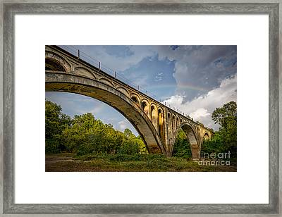 Confederate Rainbow At Bovina Framed Print by T Lowry Wilson