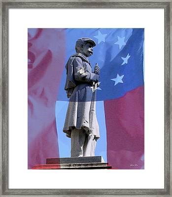Confederate Statue State Of Alabama Capitol Building Framed Print by Lesa Fine