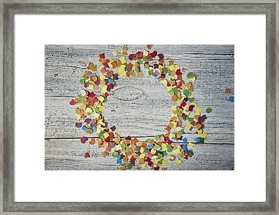 Confetti Circle Framed Print by Nailia Schwarz