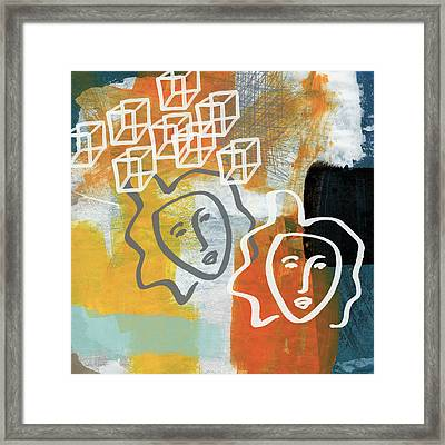 Conflicting Emotions Framed Print by Linda Woods
