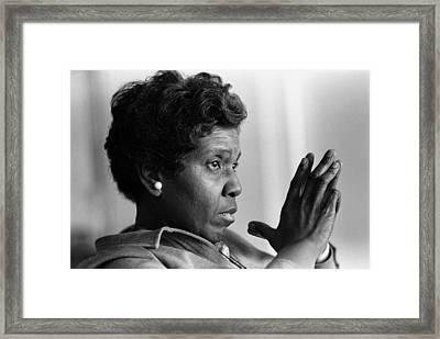 Congresswoman Barbara Jordan. In 1966 Framed Print by Everett
