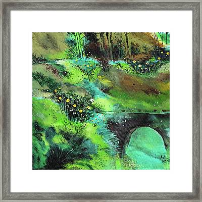 Connect Framed Print by Anil Nene