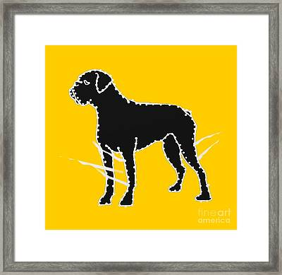 Connect The Boxer Dots Framed Print by I Am Lalanny