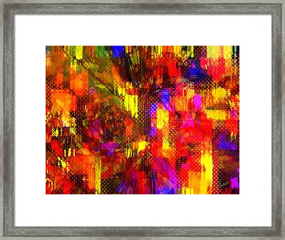 Connected In Cotonou Framed Print by Fania Simon