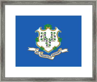 Connecticut State Flag Framed Print by American School