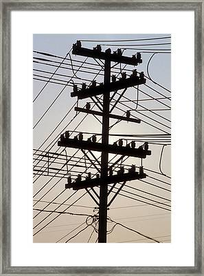 Connection Overload Framed Print by Gerard Fritz