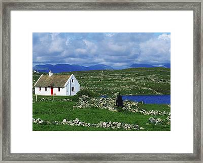 Connemara, Co Galway, Ireland Cottages Framed Print by The Irish Image Collection