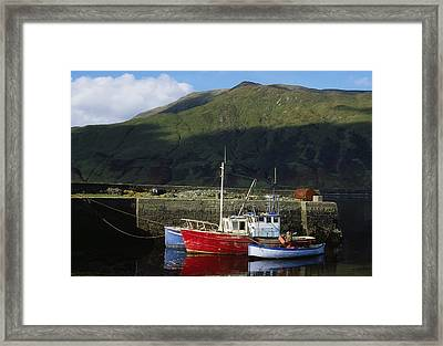 Connemara, Co Galway, Ireland Fishing Framed Print by The Irish Image Collection