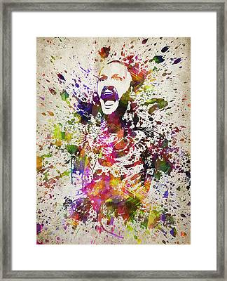 Conor Mcgregor In Color Framed Print by Aged Pixel