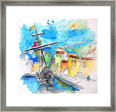 Conquistador Boat In Portugal Framed Print by Miki De Goodaboom