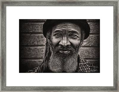 Conrad - Charcoal Drawing Framed Print by Shayla Bowen