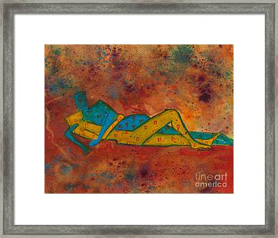Consanguinity Divine Love Series No. 1003 Framed Print by Ilisa  Millermoon