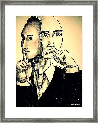 Consider Before Acting Framed Print by Paulo Zerbato