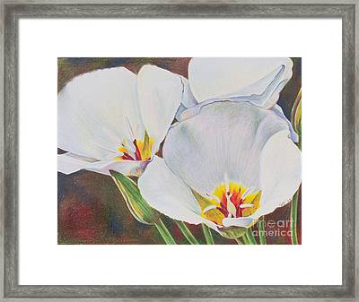 Consider The Lilies Framed Print by Alena Jean Turner